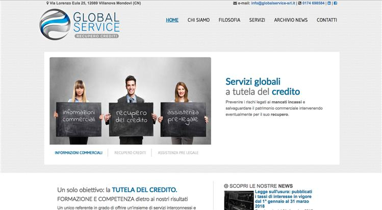 Restyling sito Global Service